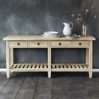 Protected Teak Serving Console