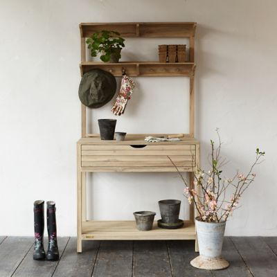 Gardener Teak Potting Station