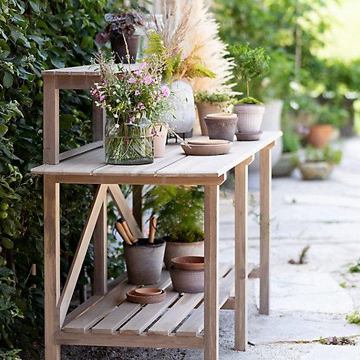 View larger image of Gardener Teak Potting Table