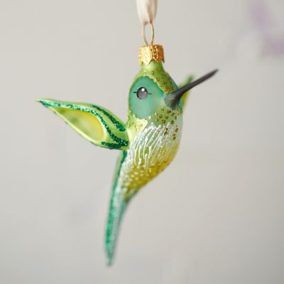 Hummingbird Glass Ornament