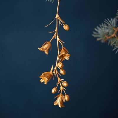 Golden Campanula Ornament