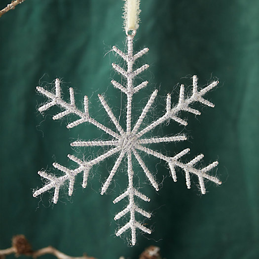 View larger image of Woolen Snowflake Ornament, Large