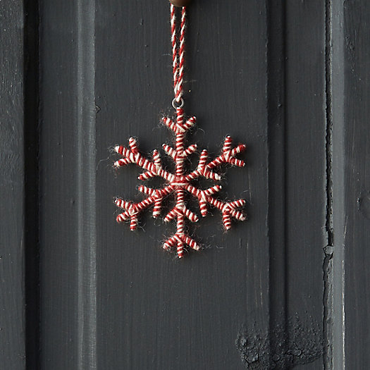 View larger image of Woolen Snowflake Ornament, Small