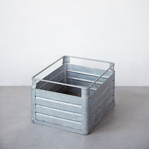 View larger image of Antique Zinc Milk Crate