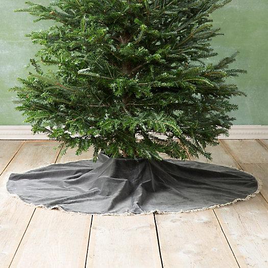 View larger image of Velvet & Linen Tree Skirt