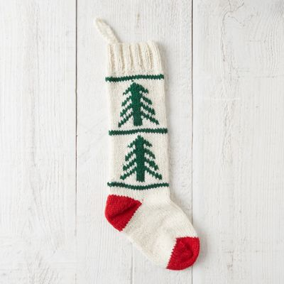 Woolen Evergreen Stocking