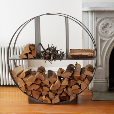 Iron Circle Log Holder