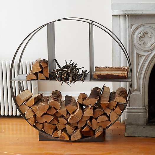 View larger image of Iron Circle Log Holder