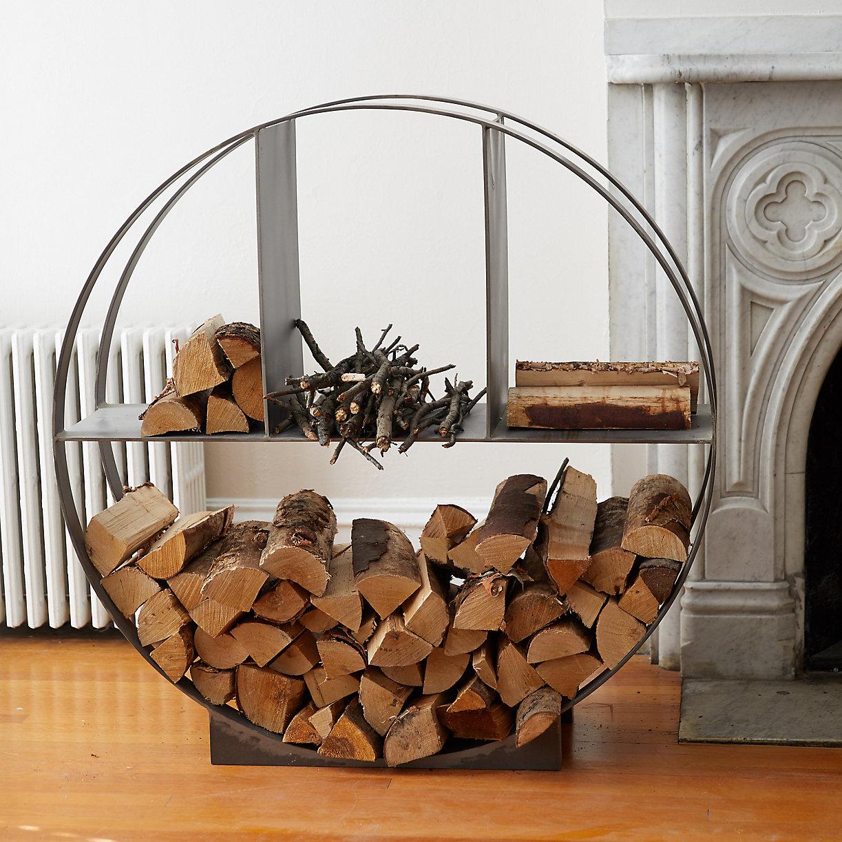 iron circle log holder terrain