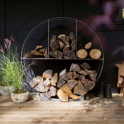 Iron Circle Log Holder