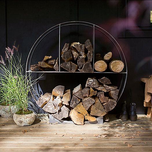 View larger image of Iron Circle Log Holder
