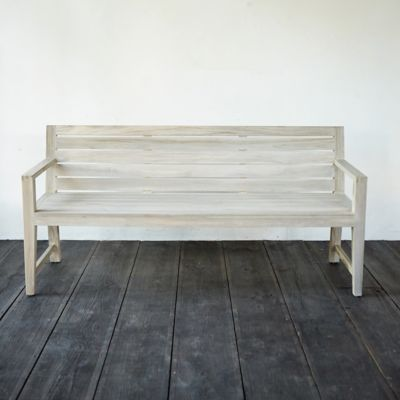 Vista Slatted Teak Garden Bench
