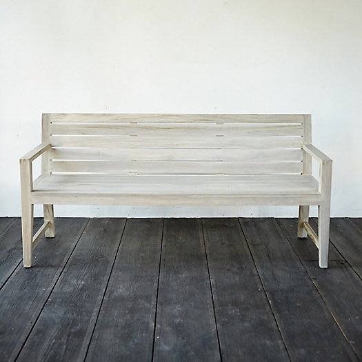 View larger image of Vista Slatted Teak Garden Bench