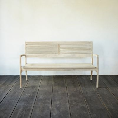 Slatted Teak Stacking Bench
