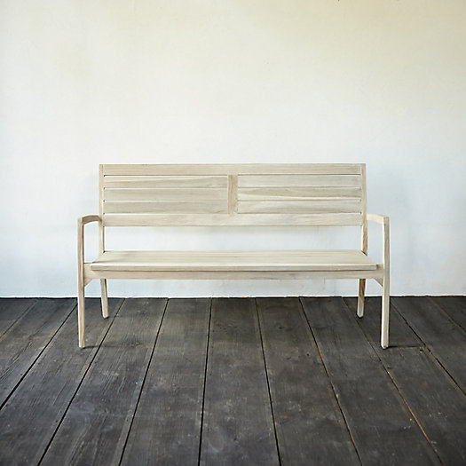 View larger image of Slatted Teak Stacking Bench