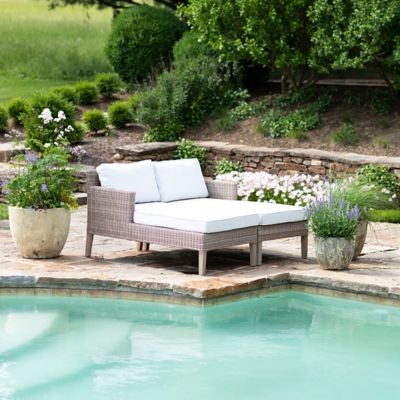 The Wicker + Teak Chaise Collection