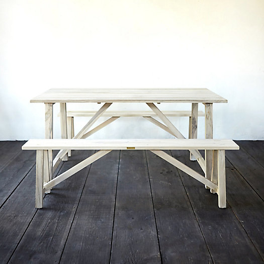 View larger image of Trestle Teak Table