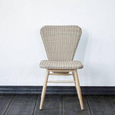 Ridgeline Wicker + Teak Side Chair