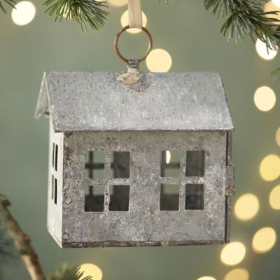 Concordville Zinc Farm House Ornament