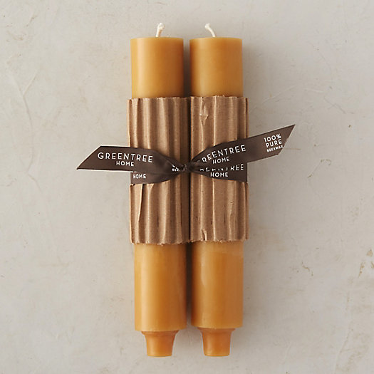 View larger image of Beeswax Column Candle Pair