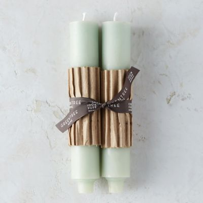 Beeswax Column Candle Pair