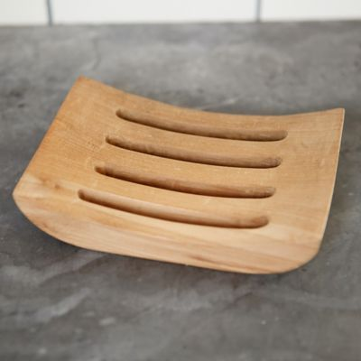 Carved Teak Soap Tray