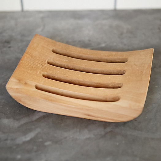 View larger image of Carved Teak Soap Tray