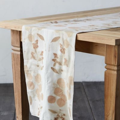 Raw Silk Table Runner, Eucalyptus