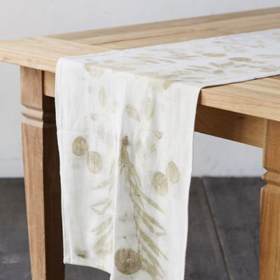 Raw Silk Table Runner, Wisteria
