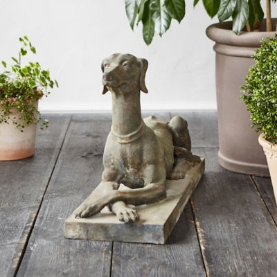 Cast Iron Dog Statue