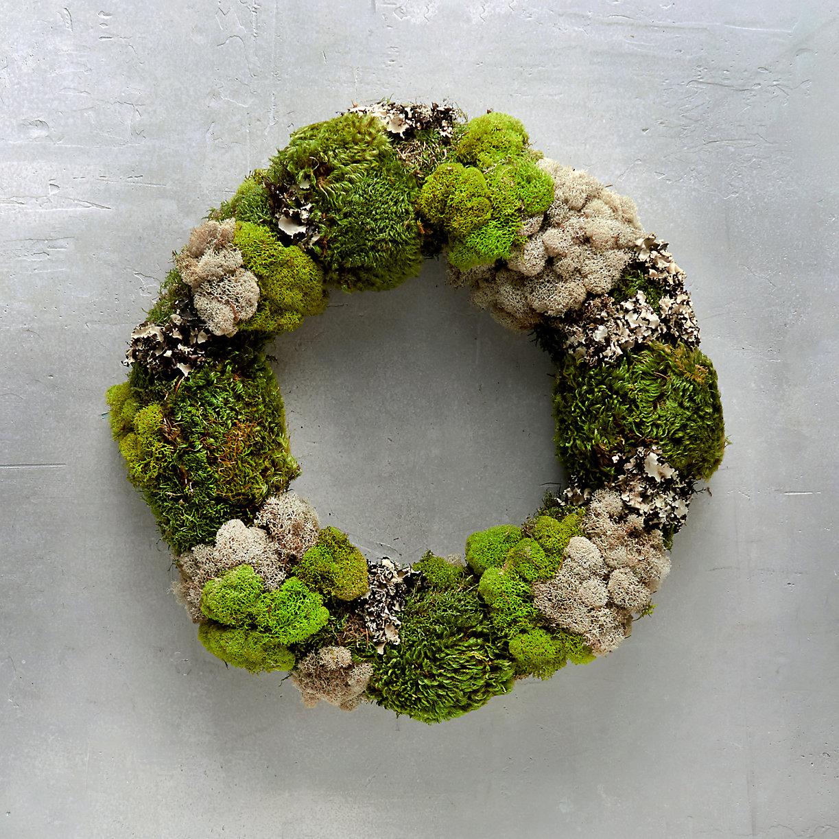 Mixed Moss Wreath Front Door Wreaths Terrain Terrain