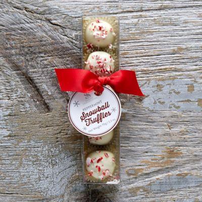 Peppermint Snowball Truffles