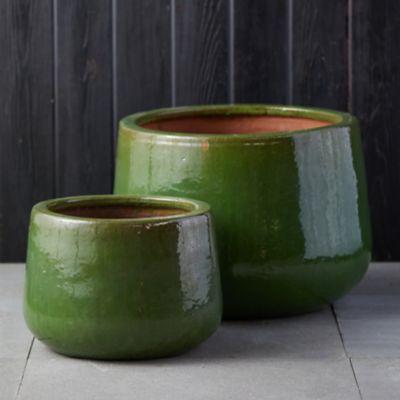 Stoneware Drop Pot