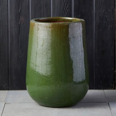 Stoneware Drop Pot, Tall