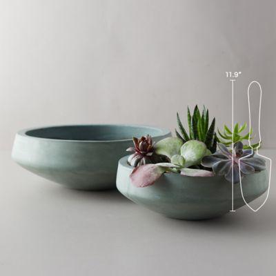 Fiber Concrete Low Bowl