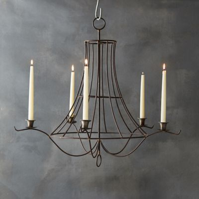 Iron Taper Chandelier