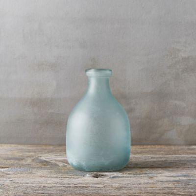 Sanded Glass Vase, Round