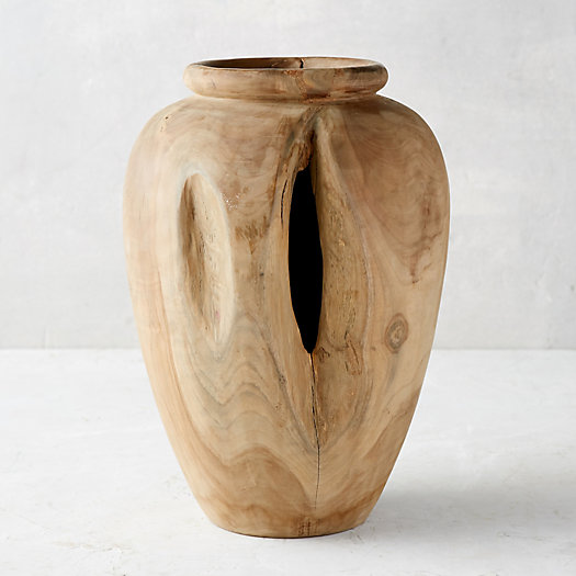 View larger image of Carved Teak Urn