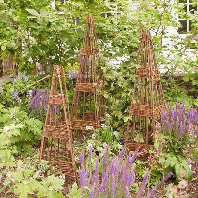 Woven Willow Folding Cone