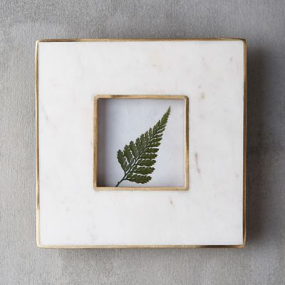 Marble & Brass Square Frame