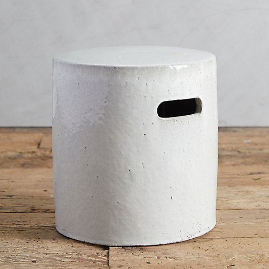 View larger image of Glazed Ceramic Cylinder Stool