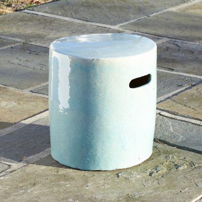 Glazed Ceramic Cylinder Stool