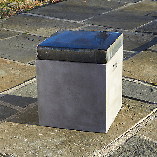 View larger image of Glazed Top Fiber Concrete Stool