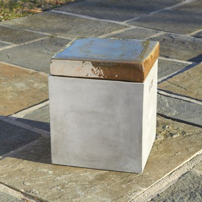 Glazed Top Fiber Concrete Stool