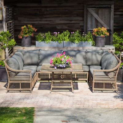 Trellis Weave All Weather Wicker Dining Nook