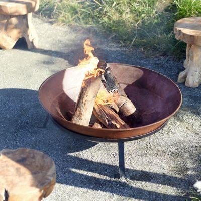 Copper Dish Fire Pit