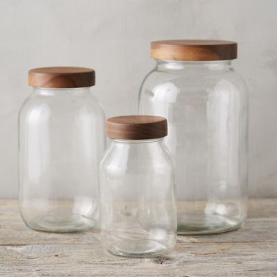 Walnut Lid Storage Jar