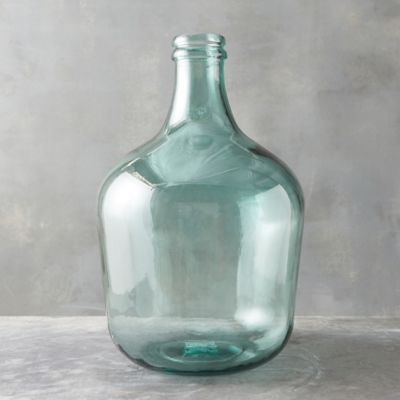 Recycled Glass Bottleneck Vase
