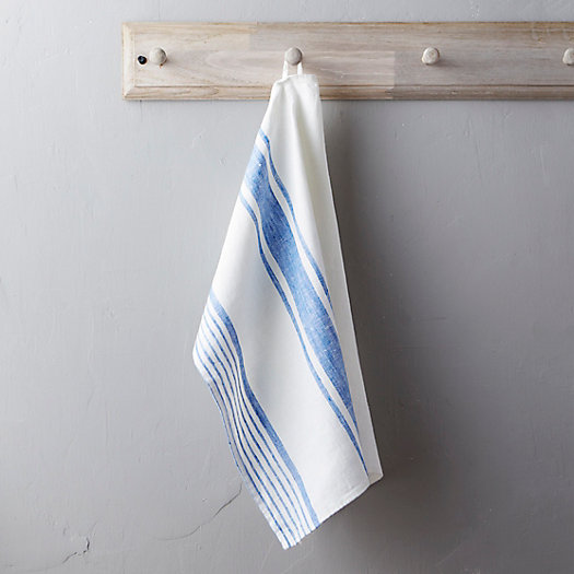 View larger image of Lithuanian Linen Tea Towel, Market Stripe