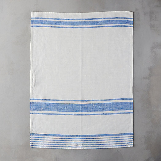 View larger image of Lithuanian Linen Dish Towel, Market Stripe